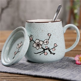 Wonderful Handmade Ceramic Flower Pattern Coffee Mug