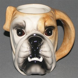 Creative and Modern Style Ceramics Dog Head Pattern Birthday Gift Cups and Mugs