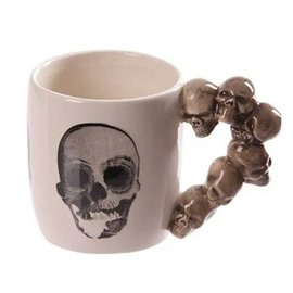 New Innovative Ceramics Skull Coffee and Milk Mugs Halloween Creative Gift