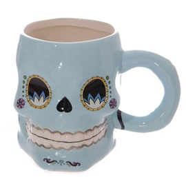 New Creative and Individual 3D Cartoon Skull Coffee Mugs Halloween Mischief Gift