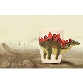 3D Creative and Elegant Style Ceramics Hand Painted Stegosaurus Birthday Gift Cups and Mugs