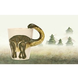Creative and Lovely Style Ceramics Hand Painted Dinosaur Birthday Gift Cups and Mugs