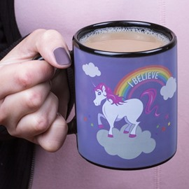 Cartoon Unicorn Rainbow Heat Sensitive Color Change Coffee Mug