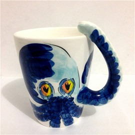 Octopus Ceramic Cartoon All Ages Tea Cup