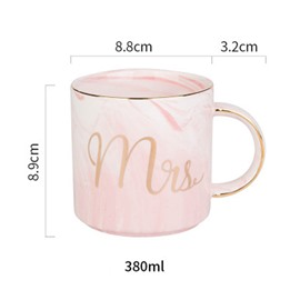 European Style Ceramic Marbling Golden Edge Coffee Mug