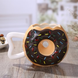 Chocolate Frosting with Sprinkles Creative Doughnut Coffee Mug
