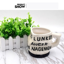 Anger Management Printing Ceramic Creative Crushed Coffee Mug