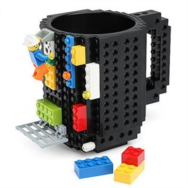 Creative DIY Build-on Brick Unique Gift Plastic Coffee Mug