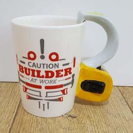 Creative Hardware Tools Yellow Tape Measure Ceramic Coffee Mug