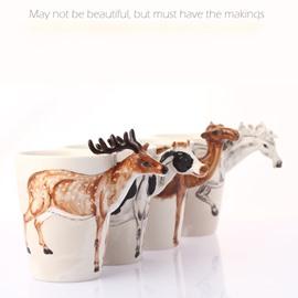 3D Vivid Sika Deer Ceramic Coffee or Tea Mug