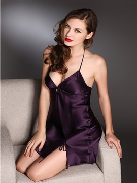 High Quality Graceful Comfortable Mulberry Silk Sleepwear