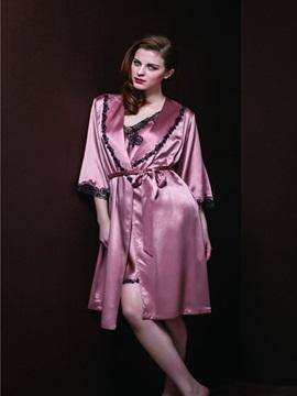 High Quality Beautiful Lace Border Skincare Silky Homewear