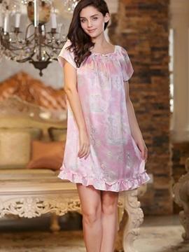 Sweet Princess Stylish and Fashion Floral Print Elegant Sleepwear
