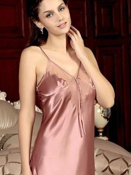 High Quality Sexy Elegant Lace V-neckline Loungewear