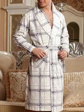 New Arrival Simple Classic Grid Design Full Cotton Loungewear