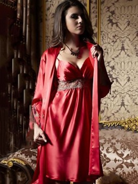 New Arrival Sexy Charming Red Lace Sleepwear