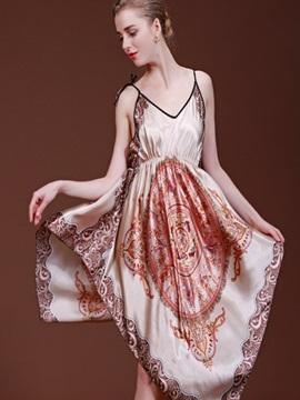 Elegant Fashion And Attractive Bohemia Style Sleepshirt