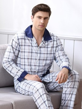 Man Light White With Attractive Strip Lines Popular Cotton Comfortable Pajamas