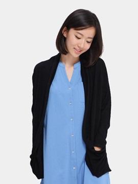 Merino Wool Short Loose Women 's Cardigan Home Dress