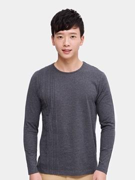 Simple Fashion Design Soild Color Cotton Comfortable Man's Long Sleeves Coat