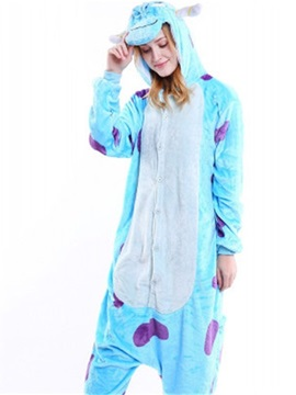 Halloween Bue Sullivan Flannel One-Piece Stretchable Pajama Jumpsuit