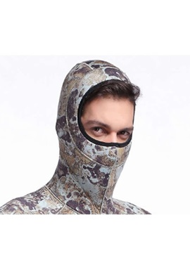 5MM 17-12℃ Camo Warming for All Seasons Long Sleeve Men' s Wetsuit Set