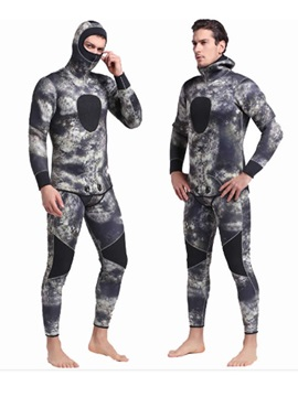 Camo 3MM 20-18℃ Warming Long Sleeve Wetsuit Set Diving Outdoor For Men