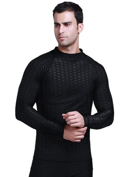 Summer Diving Black Men Jacket Long Sleeve Wetsuit Top