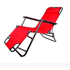 Chaise Lounge Folding with Pillow Beach Portable Camping Chair