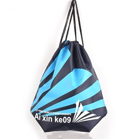 Durable Water-proof Blue Stripe Pattern for Man&Woman Backpack
