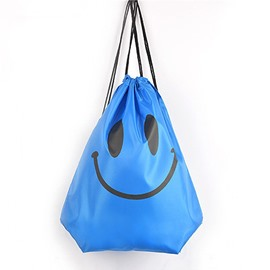 Durable Water-proof Optimistic Smile Pattern for Man&Woman Blue Backpack