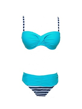 Plus Size Wrap Women Swimwear Two-Piece Bikini Set