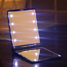 New Arrival Amazing Beautiful Lady Essentials LED Lightening Make-Up Mirror