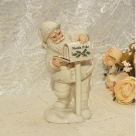 Deluxe Christmas Decorative Artware Hand Painted 24K Gilded Santa Claus Porcelain Artwork