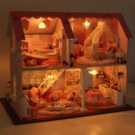 Individual Stunning Princess Pink DIY Handmade House