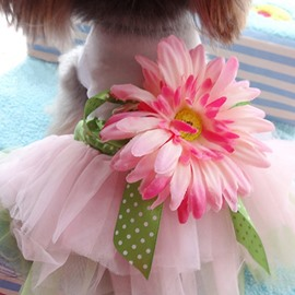 High Quality Beautiful Pet Pink Princess Dress