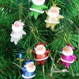 2 Pcs Festival Christmas Tree Decoration Santa Claus Pattern Pendant