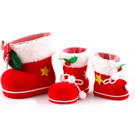 Festival Christmas Decoration Snowman or Santa Claus Pattern Christmas Stocking