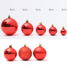 Muticolor Balls Decorations Pendant Pack of 60 Pcs Festival Christmas Decoration