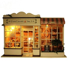Unique Miniature DIY Dollhouse with LED Light Birthday Valentine Gift