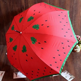 Adorable Watermelon Pattern Red Personal Umbrella