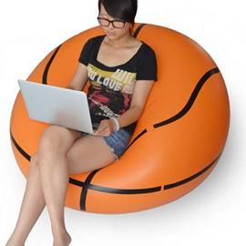 Vivid Basketball Design Inflatable Lazy Sofa Tatami Seat