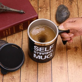 Practical Concise Letters Design Automatic Stir Coffee Cup