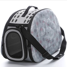 Pink Daisy Pattern Waterproof Hard Case Pet Carriers for Cats and Dogs
