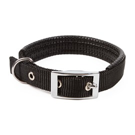 Adjustable Classic Solid Color Dog Nylon Black Red Collar