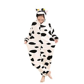 Animal Cosplay Costume Milk Cow Unisex Adult Pajamas