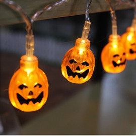 LED Pumpkin Battery Christmas Lights for Holiday Decoration