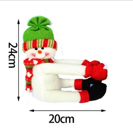 Bottle Cover Santa Snowman Merry Christmas Decor