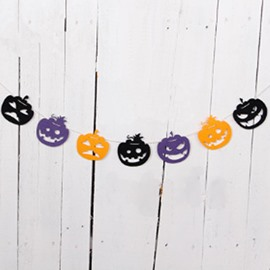 9 Pumpkins Colorful 2.5m Rope Halloween Decor Flag