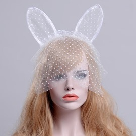 Cat Ear Lace Cosplay Halloween Party Time Hair Decoration